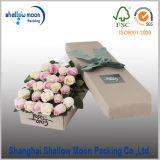 Caisse d'emballage ronde fabriquée à la main faite sur commande de fleur (QYZ385)