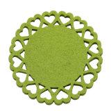 Onderleggers voor glazen van de Stof van de Polyester van 100% de Niet-geweven