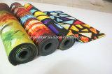 Non stuoia stampata di yoga della gomma naturale di franamento che esercita stuoia