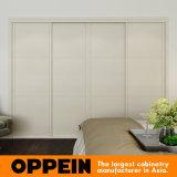 Houten Garderobe van de Melamine van Oppein de Moderne Witte Ingebouwde Glijdende (YG16-M05)