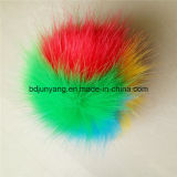 耳のマフおよびニットの帽子のための多くのカラーのどのキツネの毛皮POM POM