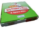 Caixas coloridas da pizza de Cardbaord do papel ondulado da impressão da forma nova