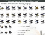 革帽子の人の玉を付けられた軍の上等兵Headwear