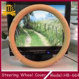 Крышка рулевого колеса автомобиля автозапчастей PVC+Wood