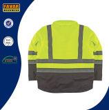 Revestimento elevado isolado do Workwear da segurança do revestimento do Vis
