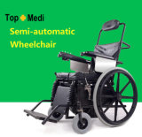 Topmedi Rehabilitation-Therapie gibt medizinische halbautomatische stehende Rollstühle an