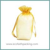 Il regalo reso personale di favore del Organza insacca il sacchetto del Organza del vino