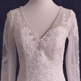 Реальный шнурок фотоих отбортовывает длинние платья венчания Mermaid втулки (TM-mm137)