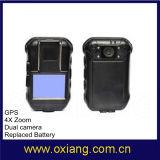 2.0inch de mini Draagbare Versleten Camera van de Politie Lichaam met Relaceable Batterijen HD 1080P