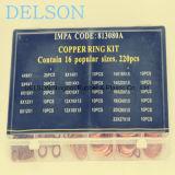 Surtido de cobre del kit 16size 220PCS Wahser de la junta/de la estera