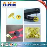 8g NFC Ntag213チップと小さい受動Hf RFIDの動物の札の黄色