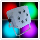 6X18W Rgbawuv電池によって再充電される無線党ライト