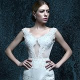 Mermaid Real Photo Cap Sleeve Wedding Dress (ZXB-29)