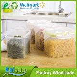 Tipo envase de la hebilla de la tarjeta de almacenaje plástico del alimento del cereal del lacre con la tapa