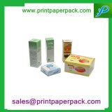Косметика напечатанная таможней складывая коробку подарка твердого картона бумажную упаковывая