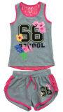 女の子の袖なしのTシャツのベスト(SV-018-023)の方法子供の衣服