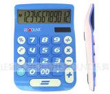 12의 손가락은 소형 계산기 이중으로 한다 큰 LCD 디스플레이 및 큰 키 (LC201-12D)를 가진 힘