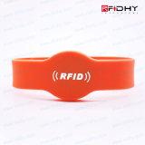 EM4450 ajustable sin contacto RFID pulsera de silicona