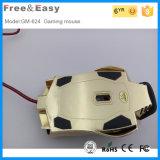 Souris optique de câble à grande vitesse polychrome de jeu