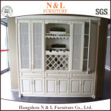 De Stevige Houten Keukenkast van uitstekende kwaliteit met Geïntegreerdl Handvat