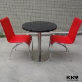 円形の黒い大理石のCorianの固体表面のコーヒーテーブル170112
