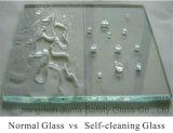 Vidro Self-Cleaning para o uso do banheiro e do indicador