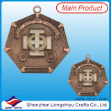 Award Souvenir Medal Giftsとして3D Excellent Brass Medals Quality Custom Medal Wholesale Medallion