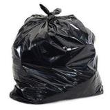 Bolso de basura negro 65gallon con la escritura de la etiqueta de papel