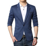New Arrival Blazer Men Cotton Soild Suit Jacket Slim Fit Blazer