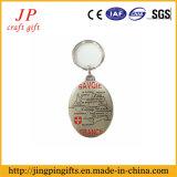 Série feita sob encomenda do anel chave do logotipo da venda quente, corrente chave da arte do metal