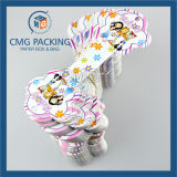 Cartão de conjunto de jóias de impressão a cores de PVC branco (CMG-078)