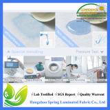 Protetor plástico cabido branco da tampa do colchão da rainha