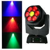 Indicatori luminosi mobili del DJ delle teste del nuovo di 7PCS RGBW 4in1 LED mini dell'ape zoom dell'occhio