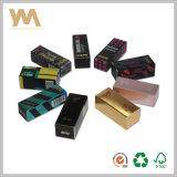Cosméticos de papel para lápiz labial plegable caja de empaquetado