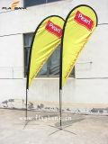Bandierina del Teardrop di mostra Aluminium+Fiberglass/bandiera del Teardrop