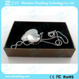 Silver Heart Shape Jewelry USB Pen Drive (ZYF1901)