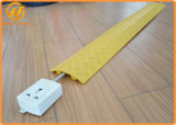 Amarillo/Black Plastic Over Floor Cord 1 Channel Cable Protector para Electric Wire