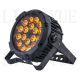 6in1 18X18W RGBAW + UV Outdoor LED PAR 64 Stage de lumière