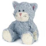 Giocattolo bello di seduta grasso sveglio grigio lanuginoso del gatto della peluche del gatto