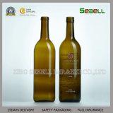 botella de cristal de Burdeos tamaño pequeño 187ml en el color verde oscuro (NA-044)