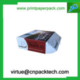 Rectángulo de regalo plegable de encargo superior del papel del caramelo del reloj de la cartulina