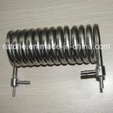 Serpentin de refroidissement non normal d'acier inoxydable de coutume