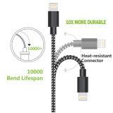 Braided данные по USB Micro голодают зарядный кабель на iPhone 7/6/5