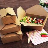 Respetuoso del medio ambiente Buena calidad Tamaño personalizado Alimentos de uso rápido Twke Away Food Kraft Paper Box