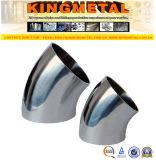 type court ajustage de précision du coude 3A 45 de pipe sanitaire inoxidable