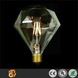 3W LED Flat Top Diamond Clear L Glass Luz decorativa européia