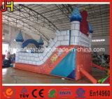 China-aufblasbares federnd Schloss mit Plättchen