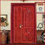 Diseño delantero de madera de la puerta doble de la puerta de madera externa (GSP1-023)