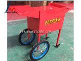 Máquina de las palomitas del gas, con las ruedas/carro para la movilidad