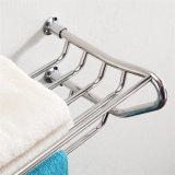 Cremagliera di tovagliolo di vendita calda dell'acciaio inossidabile degli accessori della stanza da bagno con gli ami